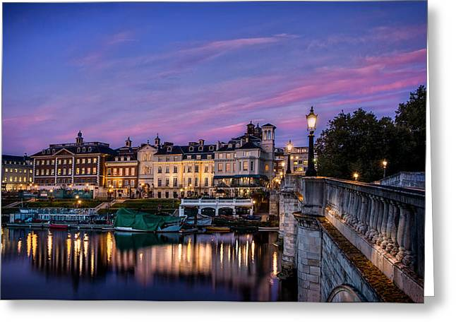 The Iconic Richmond By The River Greeting Card by Leigh Cousins