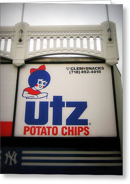 The Iconic Utz Sign Greeting Card