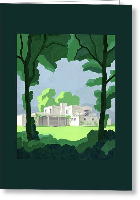 The Ideal House In House And Gardens Greeting Card by Witold Gordon