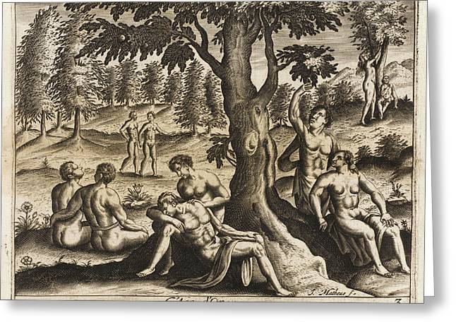 The Idyllic Period Of Human  History Greeting Card by Mary Evans Picture Library