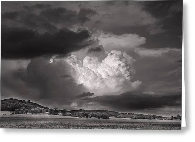The Impending Storm Greeting Card by William Fields
