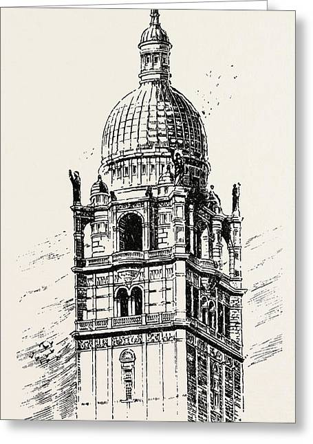 The Imperial Institute, London, Cupola Of Central Tower Greeting Card