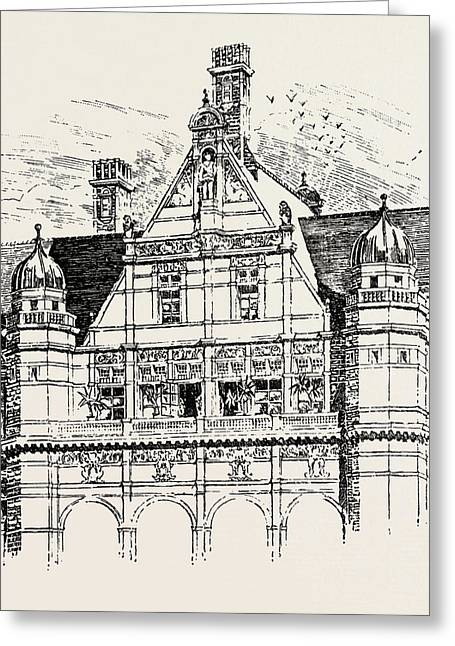 The Imperial Institute, London, Upper Part Of East And West Greeting Card