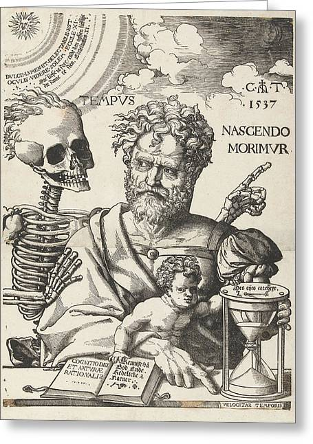 The Impermanence, Cornelis Anthonisz Greeting Card by Cornelis Anthonisz. And Jan Ewoutsz.
