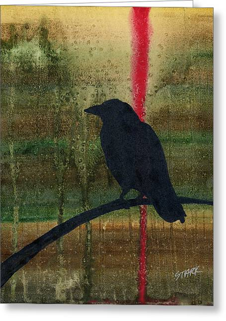 The Impossibility Of Crows Greeting Card by Jim Stark