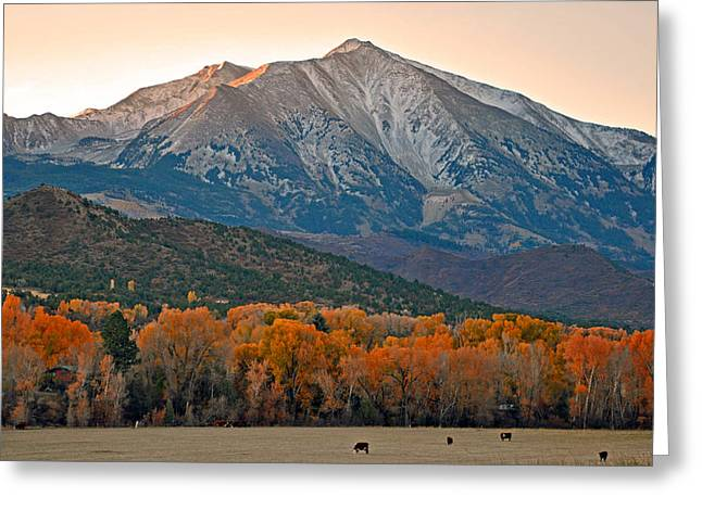 The Impressive Mount Sopris   Greeting Card by Eric Rundle