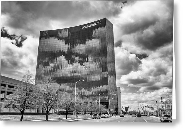 The Indianapolis Jw Marriott Black And White 2 Greeting Card