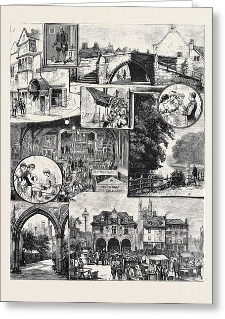 The Industrial Exhibition At Peterborough Greeting Card