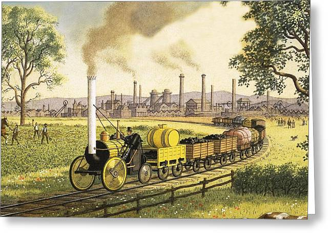 The Industrial Revolution Greeting Card by Ronald Lampitt