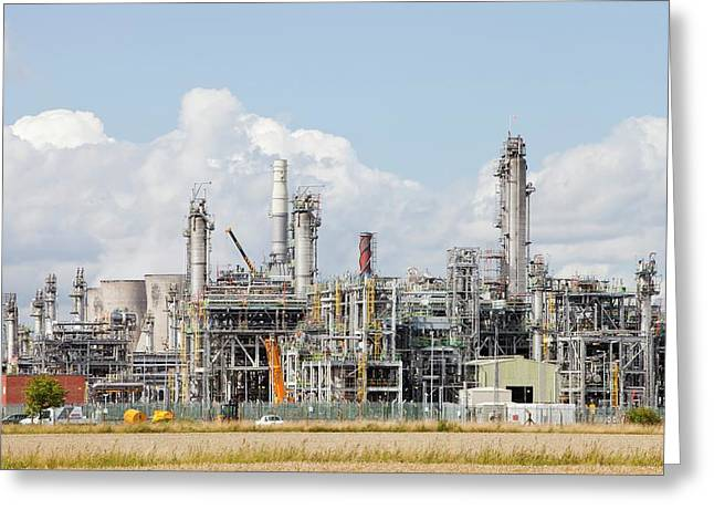 The Ineos Oil Refinery In Grangemouth Greeting Card by Ashley Cooper