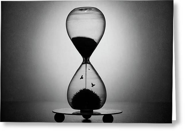 The Inexorable Passage Of Time Greeting Card by Victoria Ivanova