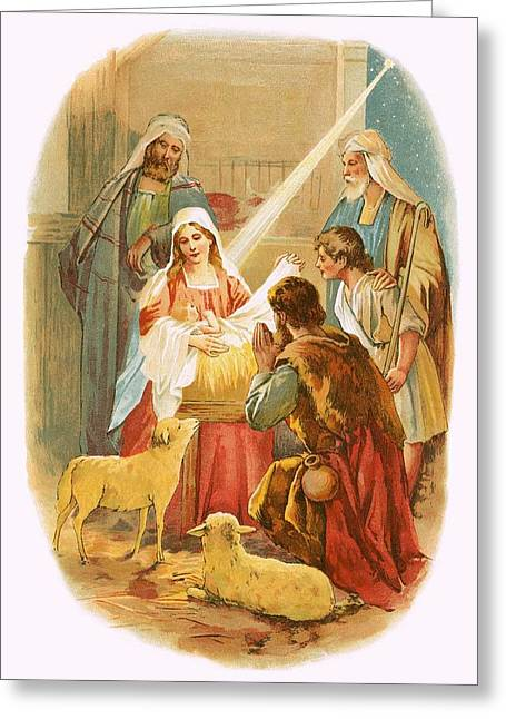 The Infant Jesus Greeting Card by English School