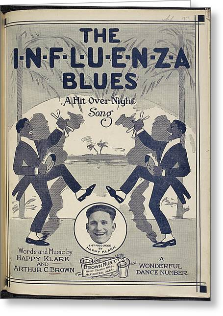 The Influenza Blues Greeting Card by British Library