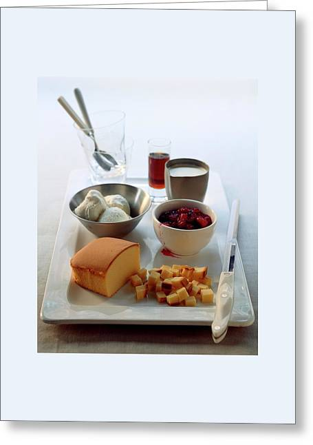 The Ingredients To Make A Trifle Greeting Card by Romulo Yanes
