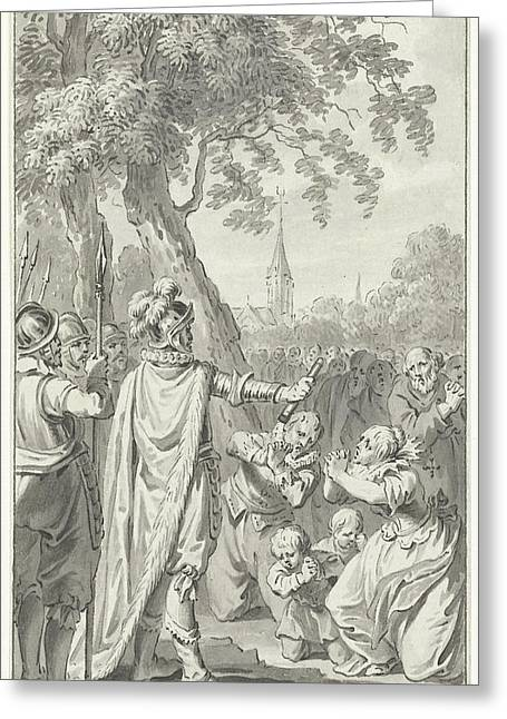 The Inhabitants Of Zierikzee Beg Charles The Bold Greeting Card by Quint Lox