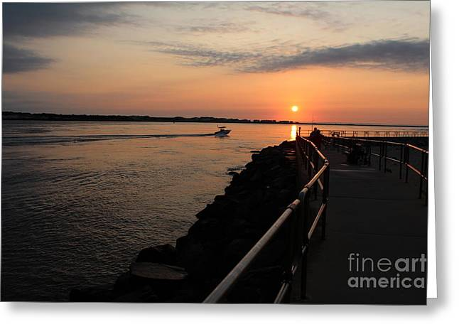 The Inlet Greeting Card by David Jackson