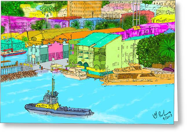 The Inlet Greeting Card by Gerry Robins