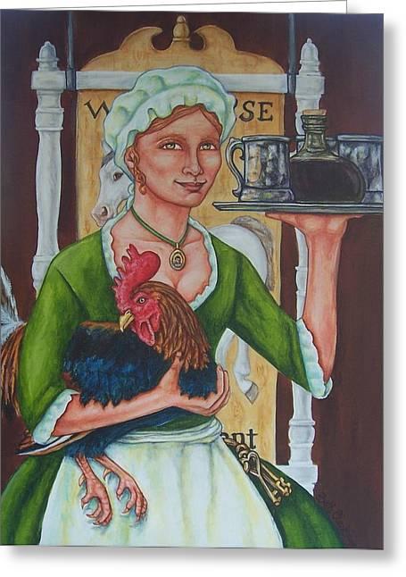 The Innkeeper Greeting Card by Beth Clark-McDonal