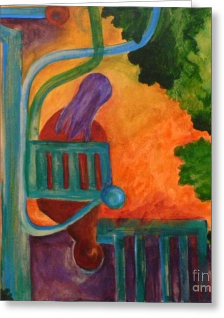 Greeting Card featuring the painting The Inspiration- Caprian Beauty Series 2 by Elizabeth Fontaine-Barr