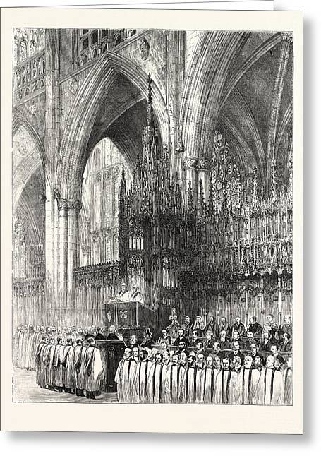 The Installation By The Dean And Chapter In York Minster Greeting Card by English School