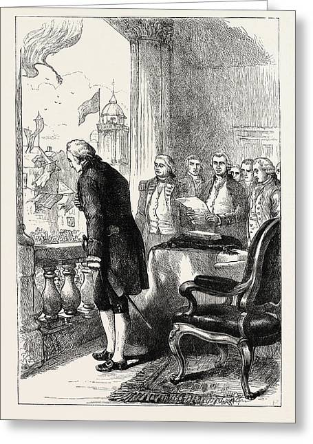 The Installation Of George Washington, United States Greeting Card by American School