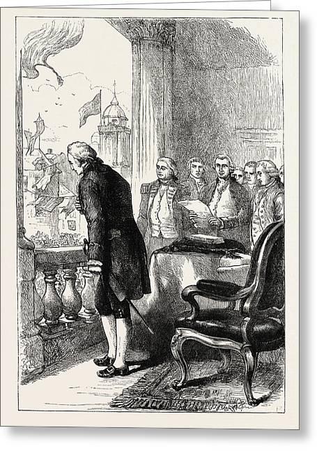 The Installation Of George Washington, United States Greeting Card