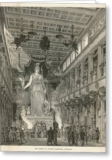 The Interior Of The Parthenon,  Or Greeting Card by Mary Evans Picture Library