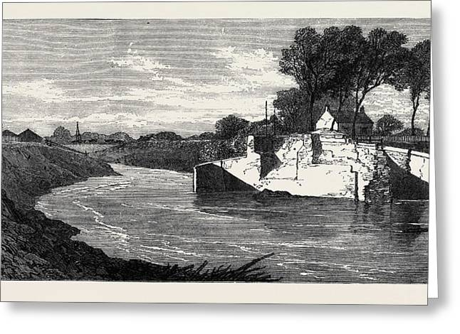 The Inundations In The Fens The Blown Sluice Greeting Card