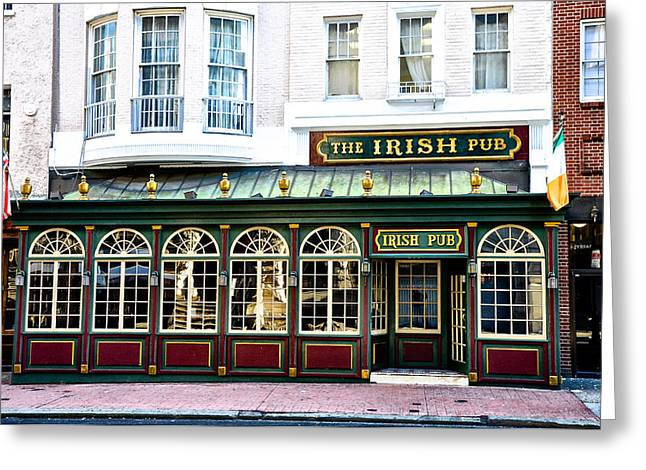 The Irish Pub - Philadelphia Greeting Card by Bill Cannon