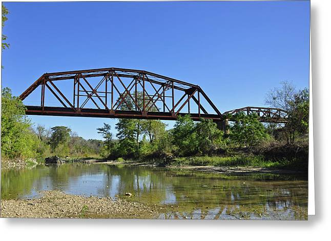 The Iron Bridge Greeting Card by Cherie Haines