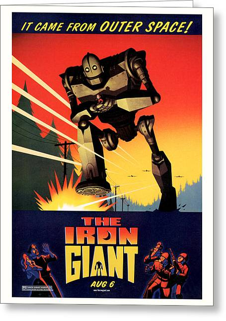 The Iron Giant 1999 Greeting Card