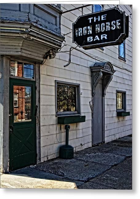 The Iron Horse Bar Greeting Card by Mike Martin