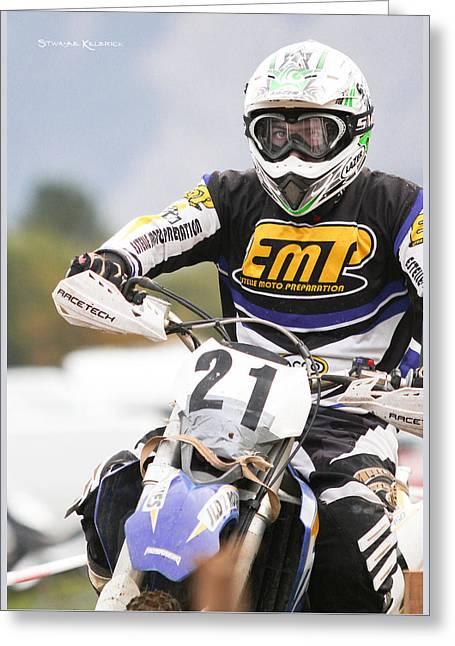 The Iron Rider Greeting Card by Stwayne Keubrick