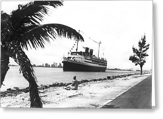 The Iroquois In Biscayne Bay Greeting Card