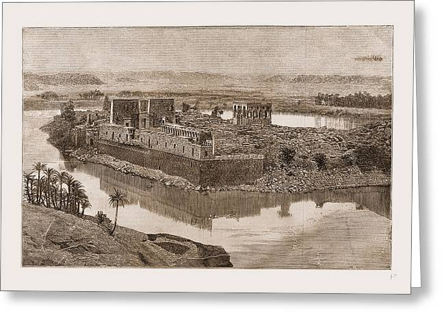 The Island Of Philae, The Nile, Egypt, 1880 Greeting Card by Litz Collection