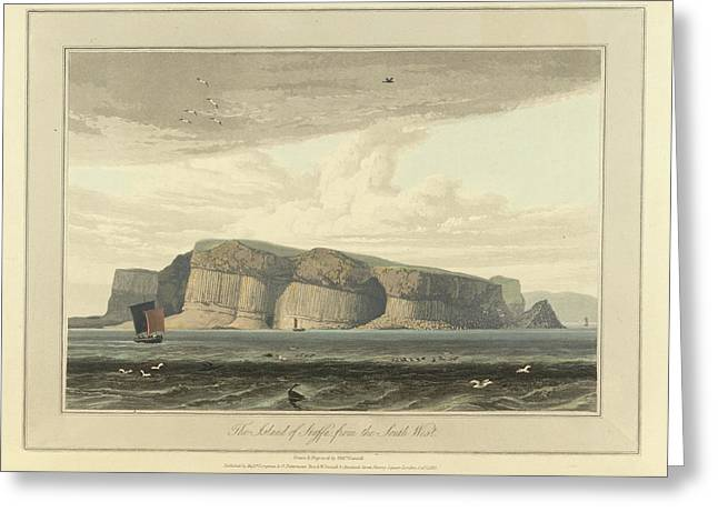 The Island Of Staffa From The South West Greeting Card by British Library