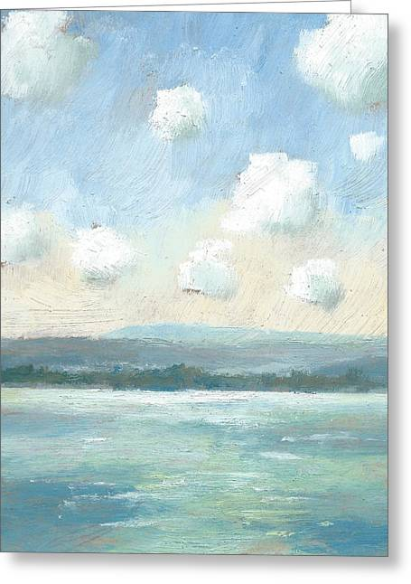 The Isle Of Wight From Portsmouth Part Nine Greeting Card by Alan Daysh