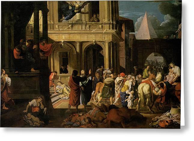 The Israelites Leaving Egypt Greeting Card by Johann Heiss
