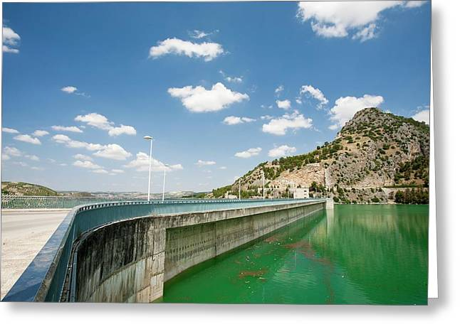The Iznajar Reservoir Greeting Card by Ashley Cooper