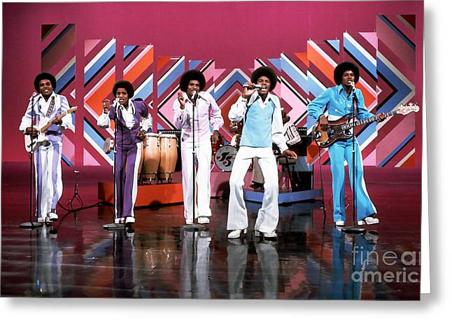 The Jackson 5  Greeting Card by Marvin Blaine