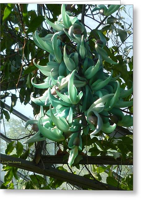The Jade Vine Greeting Card by Lingfai Leung