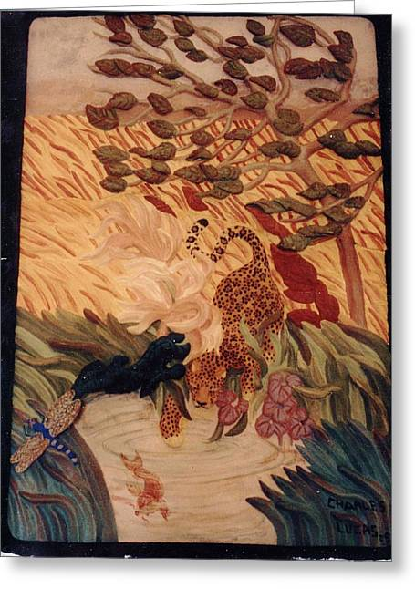 The Jaguar  Greeting Card by Charles Lucas