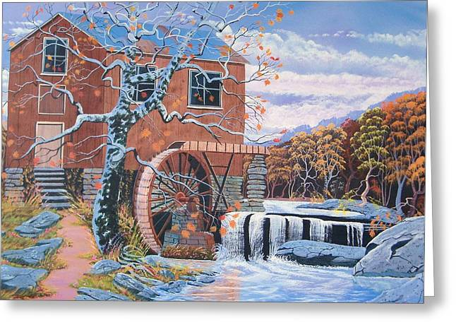 The Jamestown Mill Greeting Card by Seth Wade
