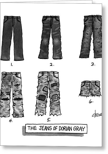The Jeans Of Dorian Gray Greeting Card by Tom Cheney