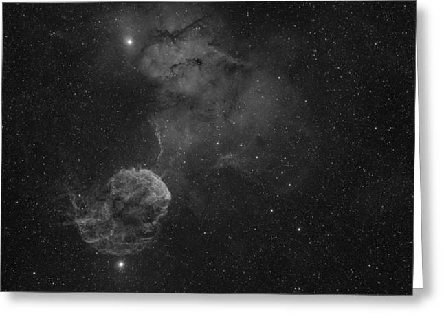 The Jellyfish Nebula Greeting Card by Brian Peterson
