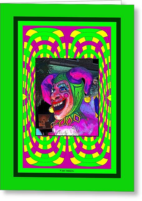 The Jester Greeting Card by Marian Bell