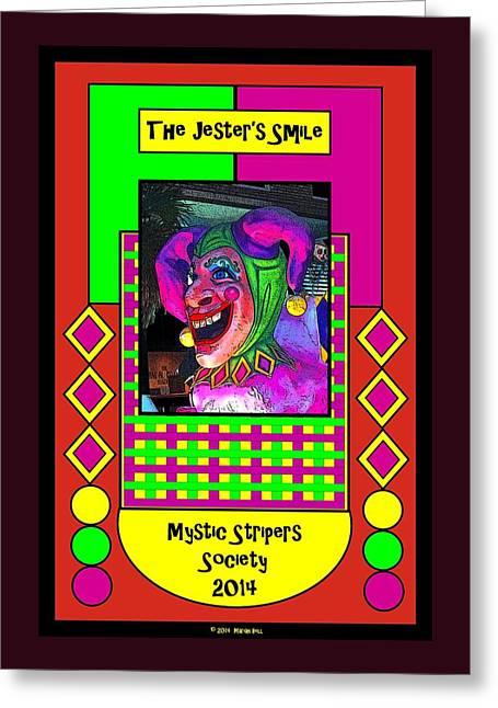 The Jester's Smile Poster Greeting Card by Marian Bell