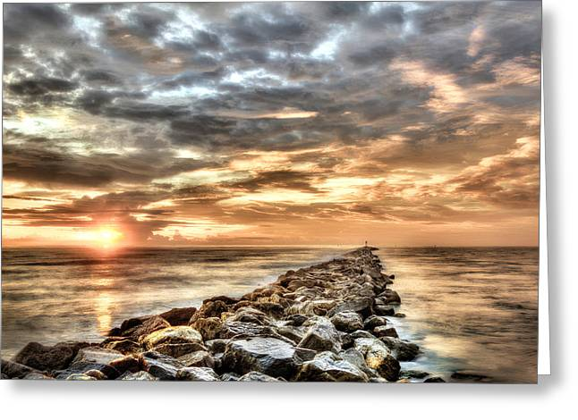 The Jetties At Ponce Inlet Greeting Card by Brent Craft