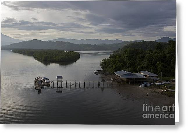 Greeting Card featuring the photograph The Jetty  by Gary Bridger
