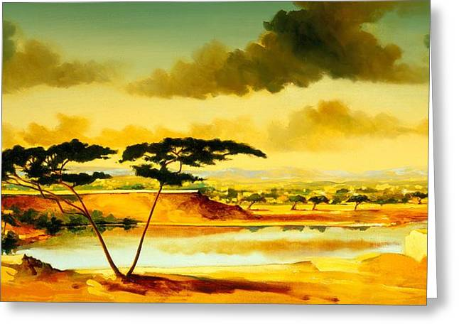 The Jewel Of Hlubluwe Greeting Card by Andrew Hewkin